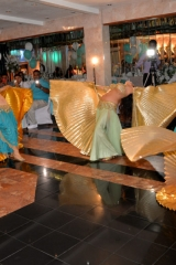 Belly dancers led by Sira in a grand entrance choreography at an upscale NY wedding.